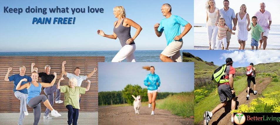 Pain relief formulas from Genuine Health so that you can do what you love – PAIN FREE!