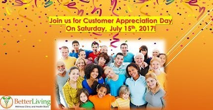 Customer Appreciation Day July 15th