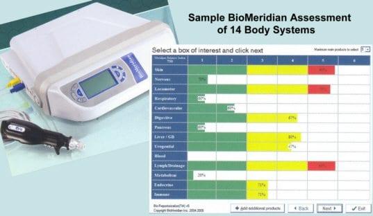 Sample BioMeridian Assessment